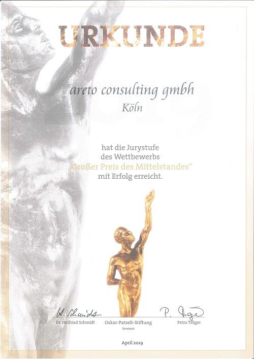 areto Grosser Preis des Mittelstands