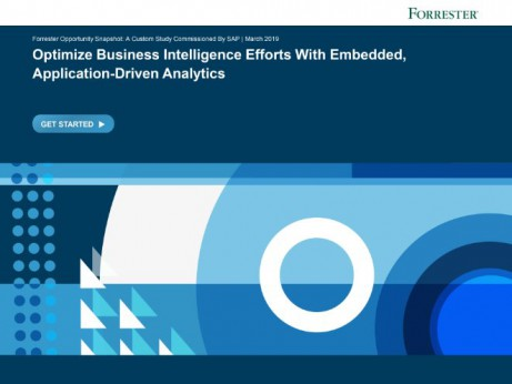 Optimize Business Intelligence Efforts with Embedded Application Driven Analytics