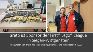 areto ist Sponsor der First Lego League Siegen